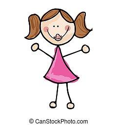 girl smiling cartoon