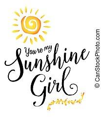 girl, soleil, vous êtes, mon
