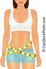 Girl sport body