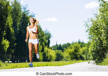 girl, sport