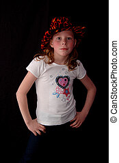 Girl Standing with Hands on Hips