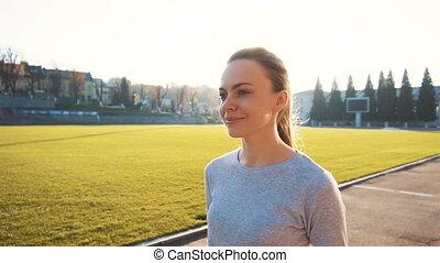 Girl Starts Jogging