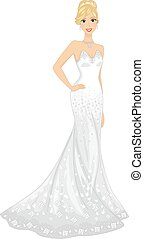 Girl Strapless Bridal Gown