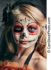 girl sugar skull
