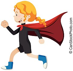 Girl super hero running