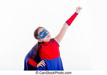girl, superhero, déguisement