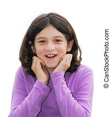 Girl surprised - Young pretty girl with surprised face on ...