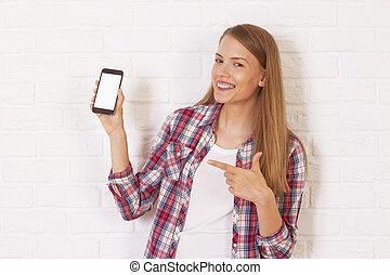 girl, téléphone, jeune
