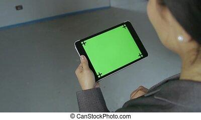 Girl Tablet Ipad Pc Computer Screen