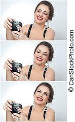 Girl taking photo, selfie