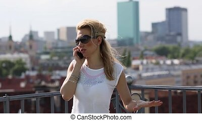 girl talking on a mobile phone