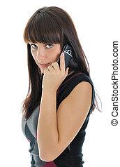 Girl, talking on phone