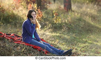 Girl talking on the phone