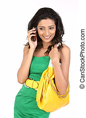 Girl talking over cell phone