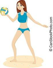 Girl Teen Beach Volleybal