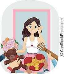 Girl Teen Suitors Gifts
