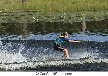Girl Teen Water-Skiing