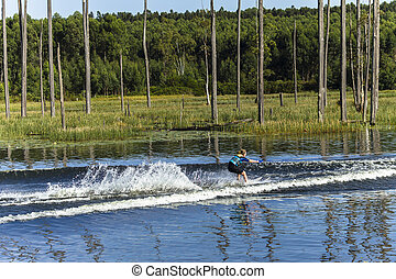 Girl Teen Water-Skiing