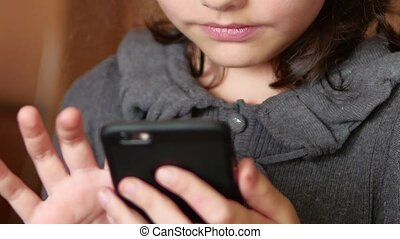 Girl teenager smartphone online game website the surfing