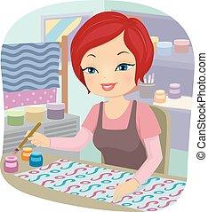 Girl Textile Paint