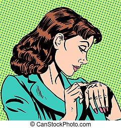 girl Thursday watch runs businesswoman - girl Thursday looks...