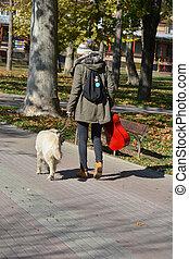 girl, traquer promenade