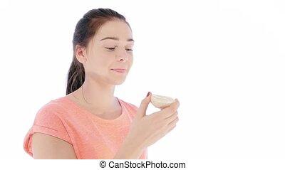 Girl Tries a Slice of Lemon