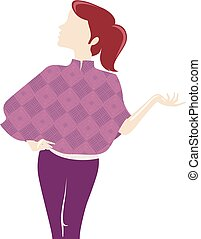Girl Twill Fabric Pattern Clothes Illustration