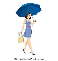 Girl under an umbrella