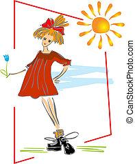 girl under the sun