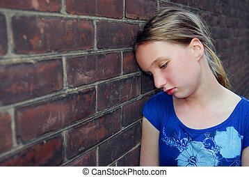 Girl upset