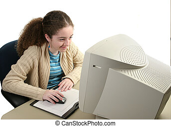Girl Using Graphic Mouse