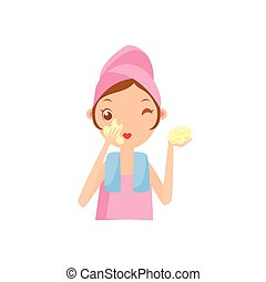 Girl Using The Tone Cream