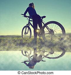girl, vélo