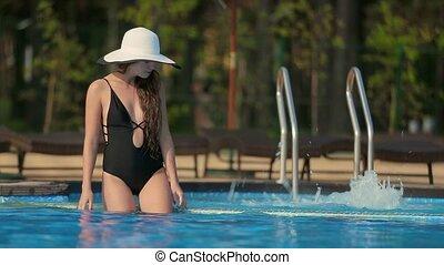 girl, va, piscine