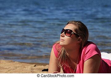 girl, vacances