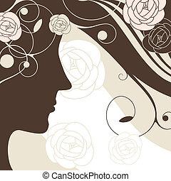 girl vector background