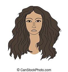 Girl vector face