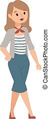 Girl vector illustration.
