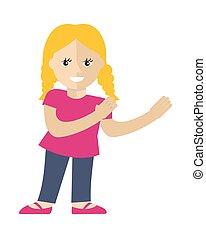 Girl Vector Illustration in Flat Design