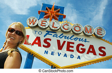 Girl & Vegas Sign