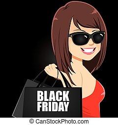 girl, vendredi, noir