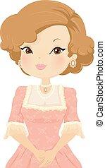 Girl Victorian Illustration