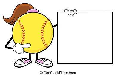girl, vide, pointage, softball