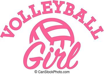 girl, volley-ball