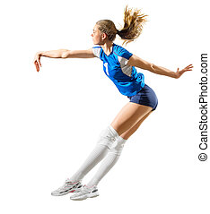 Girl volleyball player (ver without ball) - Young girl...