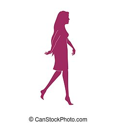 girl walk lady female