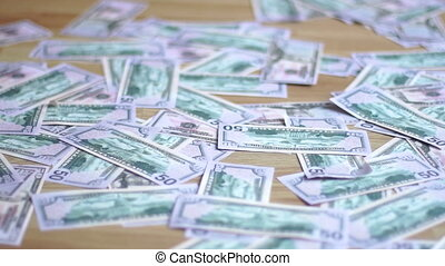 girl walking legs on money close up