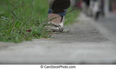 Girl Walking to Camera