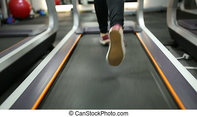 burning calories on a treadmill - Girl wants to lose weight...